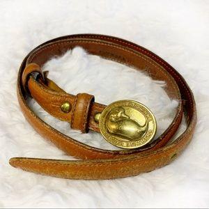 Dooney & Bourke VTG brown leather belt sz 28